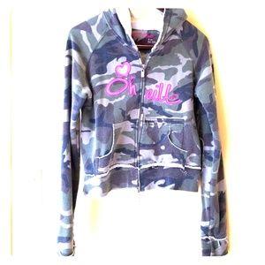 O'Neill camo zip up sweatshirt slightly distressed